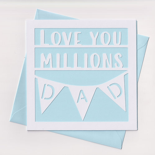 "Papercut ""Millions"" Dad Card"