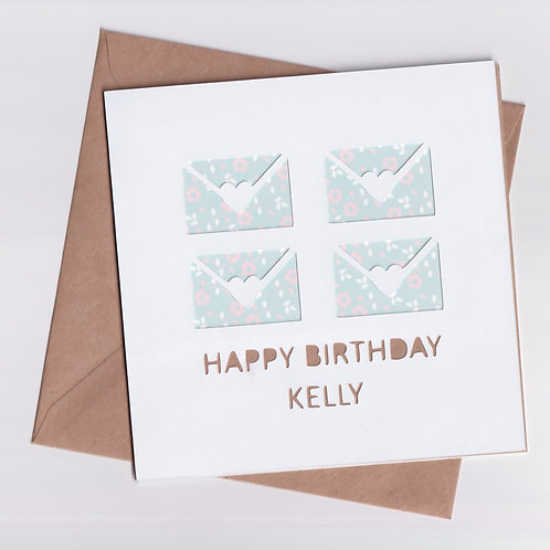 Personalised Papercut Birthday Wishes Card