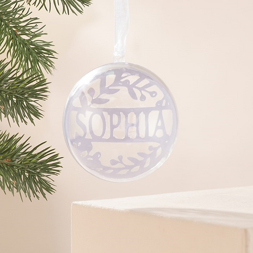Personalised Christmas  Name Bauble