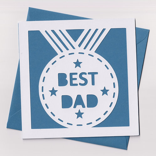 """Papercut """"Best"""" Dad Card"""