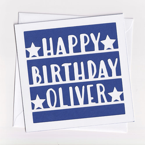 Personalised Papercut Birthday Card