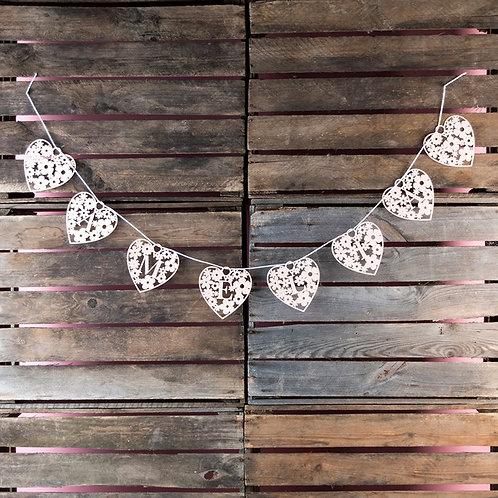 Personalised Papercut Heart-Shaped Bunting