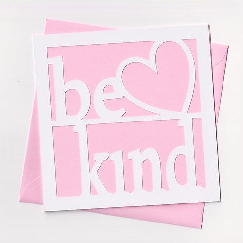Be Kind Papercut Card