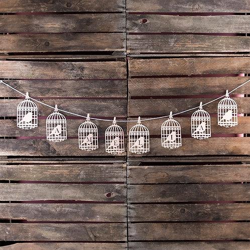 Personalised Papercut Birdcage Bunting