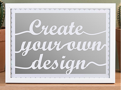 Framed Create Your Own Design Papercut