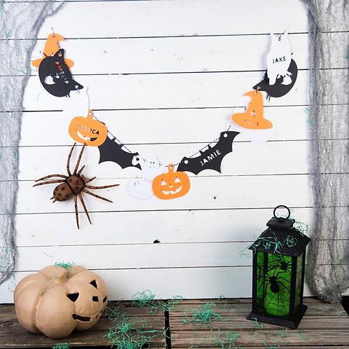 Personalised Papercut Halloween Bunting