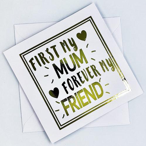 Gold Foil Mum Birthday Card
