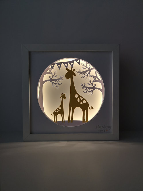 Mummy+Me Giraffe Papercut Mood Light