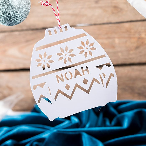 Personalised Jumper Papercut Christmas Tree Decration ( pack of 6)