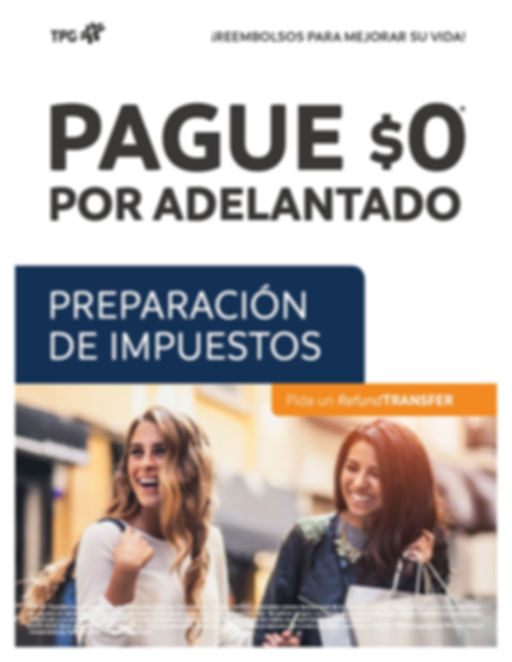 TPG Refund Transfer Flyer Spanish Downlo