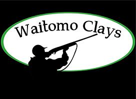 waitomo clays green logo black backgroun