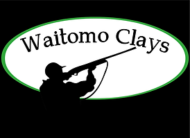 waitomo clays green logo black backgroun
