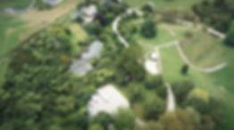 Aerial of Roselands in Waitomo Caves