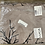Thumbnail: PEACOCK GREY WITH REDBRANCH DRIFTWOOD WITH BLACK VELVET FL VELVET FLOCK PRINTの複製