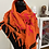 Thumbnail: Leigh&Luca BAMBOO DESIGN PRINTED ON FIERY ORANGE WITH NEON PINK VELVET FLOCK