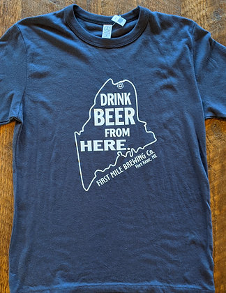 """""""Drink Beer from Here""""Tee"""