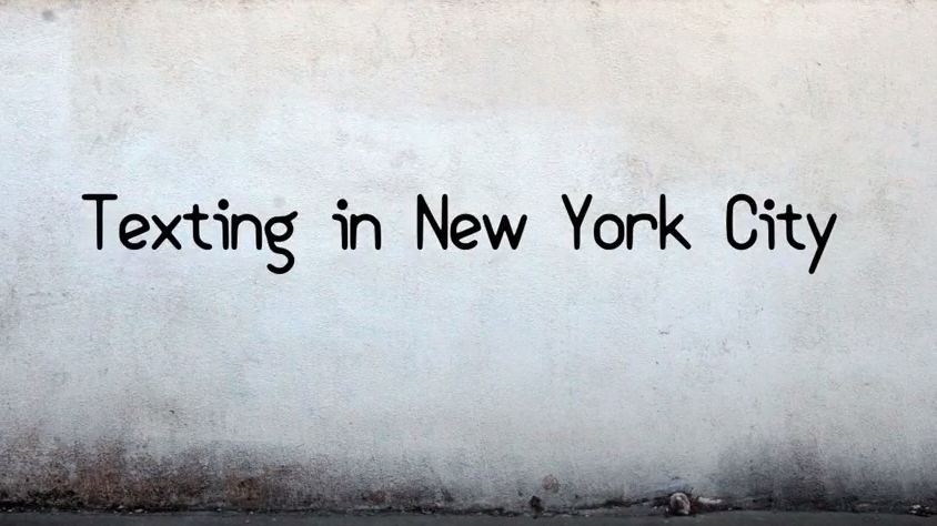 Texting in New York City short film review
