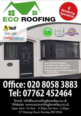 ECO Roofing Rendering Services Bromley