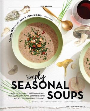 Spring soup illustrations