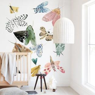 Moths Wall Mural