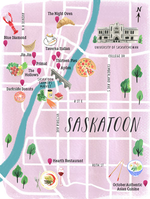 Saskatoon Food Guide Map