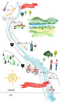 Map of Osooyos Wine Region
