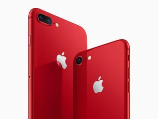 Apple lança iPhones 8 e 8 Plus na cor vermelha