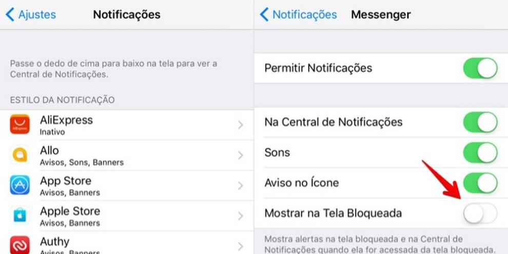 Configuração de Notificações no iPhone