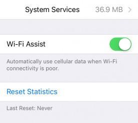 Desativando Wi-Fi Assist