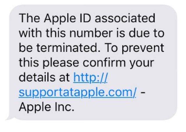 Apple text message scam