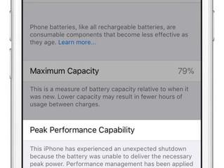 Apple mostrará como está o desempenho da bateria do iPhone