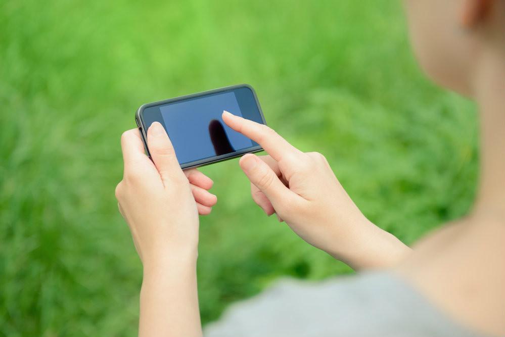 iPhone com tela preta