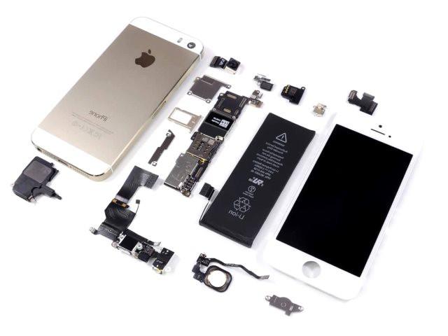 Exemplo de componentes que compõe um celular