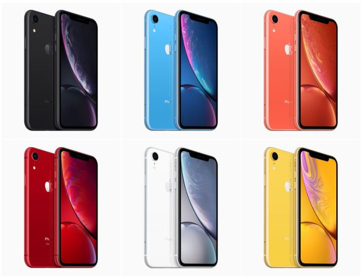 Cores do iPhone Xr