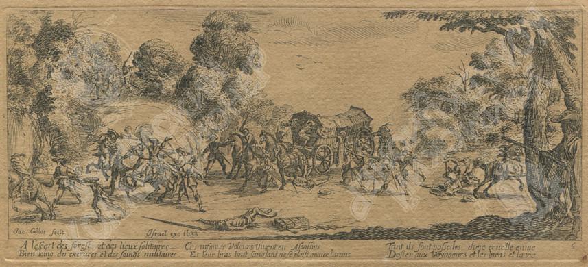 "Jacques Callot, ""Les Grandes Miseres de la guerre"" сюита ""Большие бедствия войны"", 6 из 18 листов, 1633."