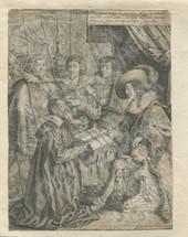 Жан Риолан Младший представляет трактат об анатомии королю Людовику XIII