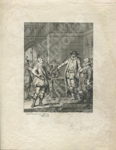 Виллем Оранский возвращает меч графу Боссю (Oranje geeft Bossu te Hoorn zijn zwaard terug)