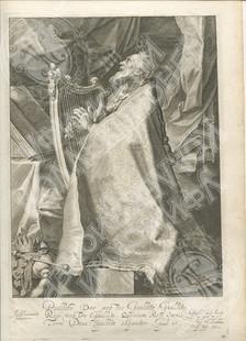 Царь Давид, играющий на арфе. (Koning David speelt op de harp)