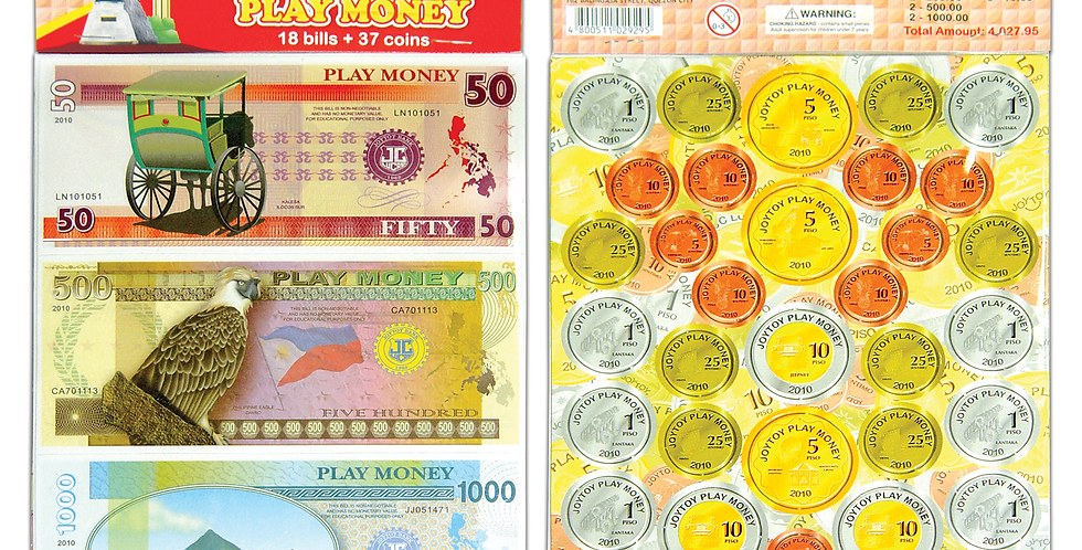 Philippine Sight to see Play Money (Bills & Coins)