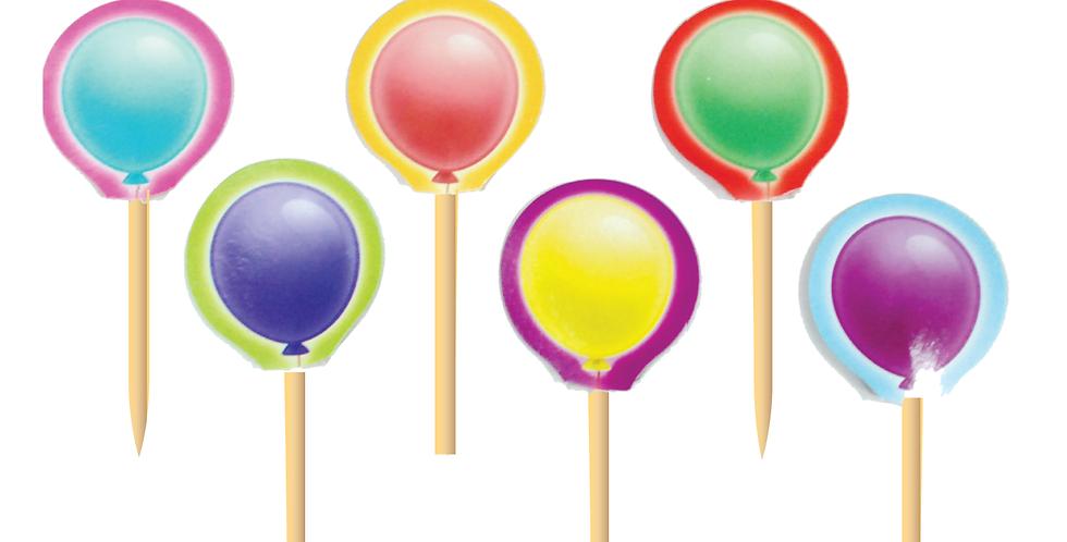 Balloons Party Picks (18 pcs.)
