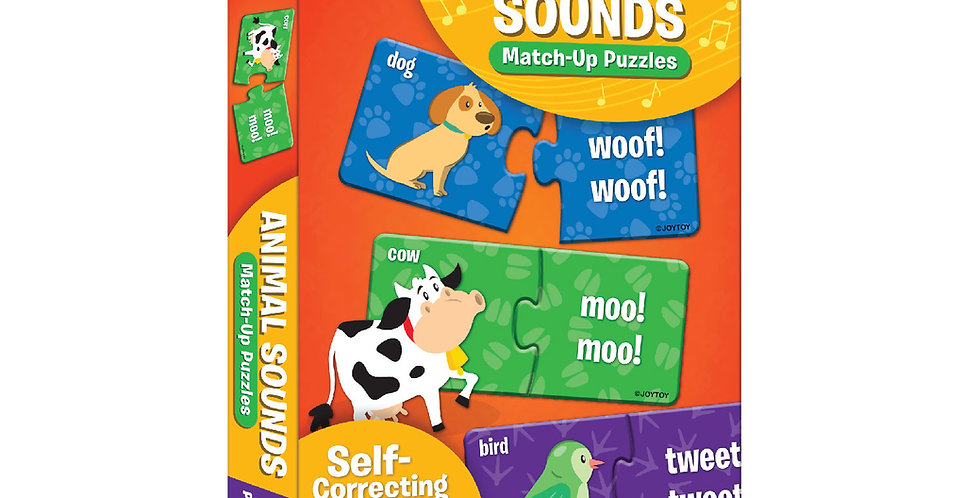 Animal Sounds Match-up Puzzles