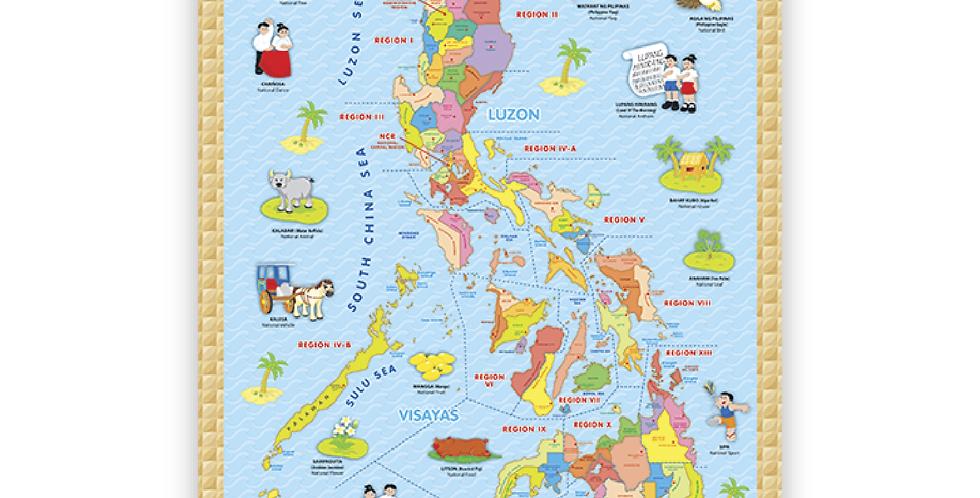 Philippine Map & Symbols Poster