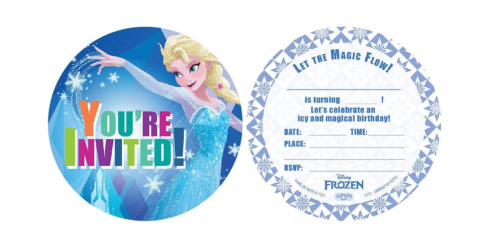 Frozen Party Invitation Cards (6 sets)