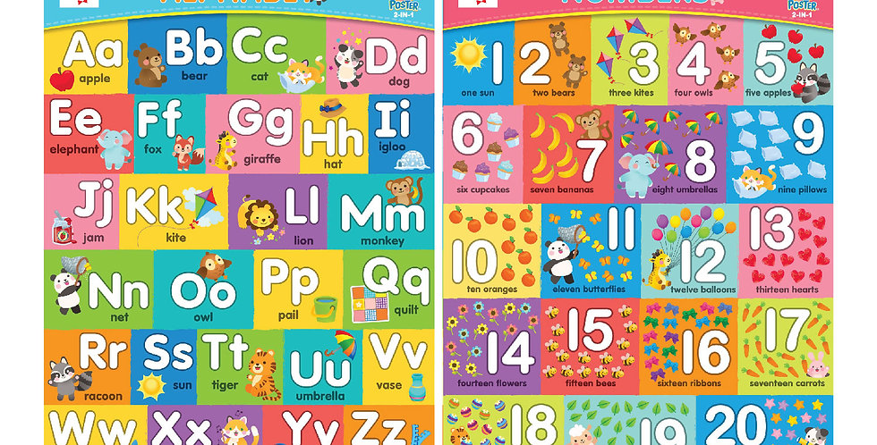 Mini Bunch ABC/Number 2-in-1 Poster