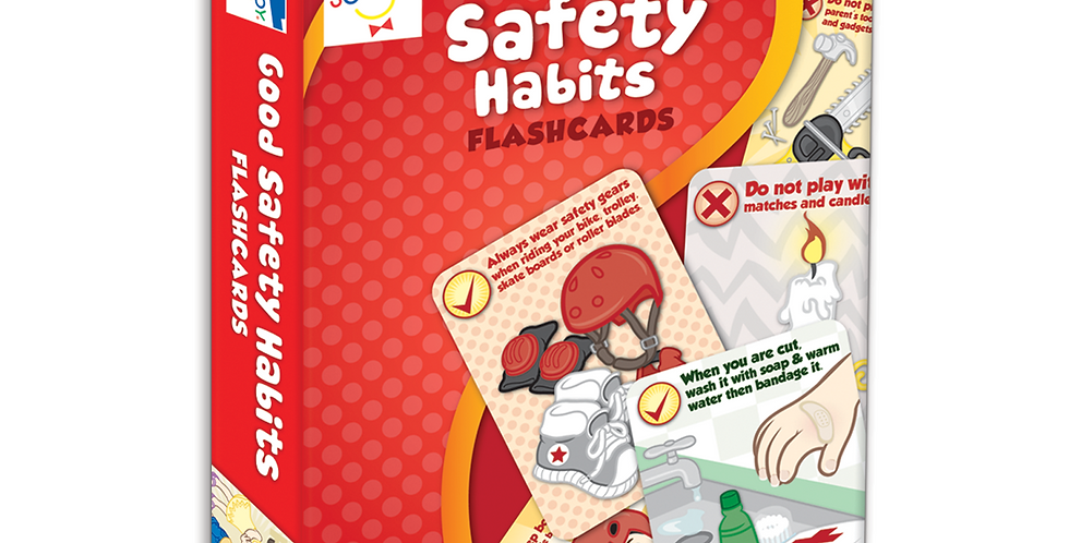 Good Safety Habits Flash Cards