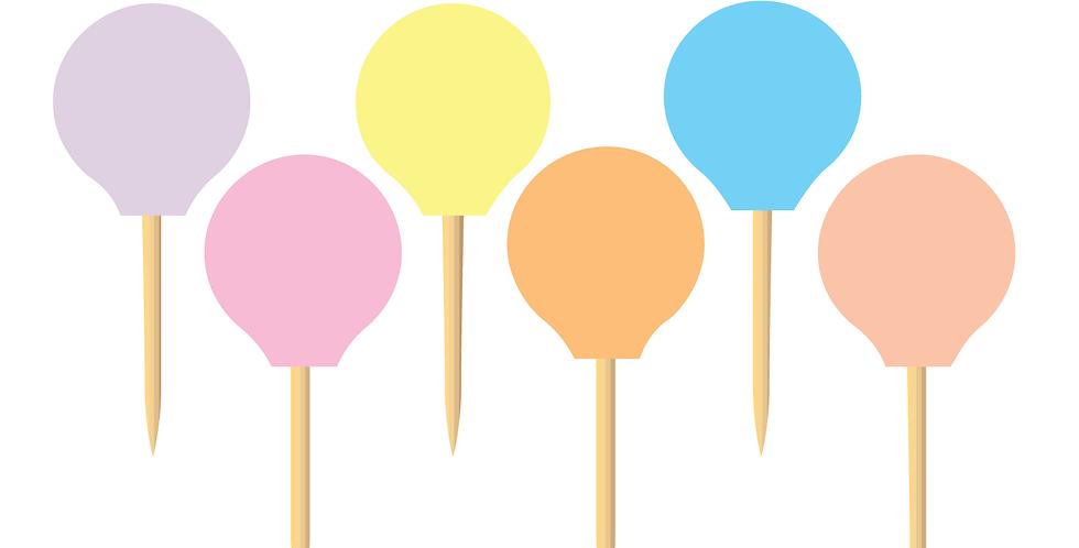 Pastel Colors Party Picks (18 pcs.)