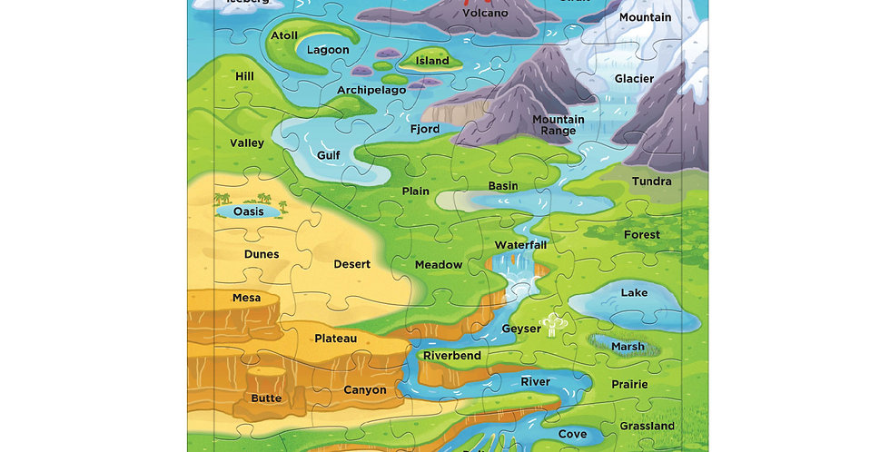 Geographic Features Frame Tray Puzzle