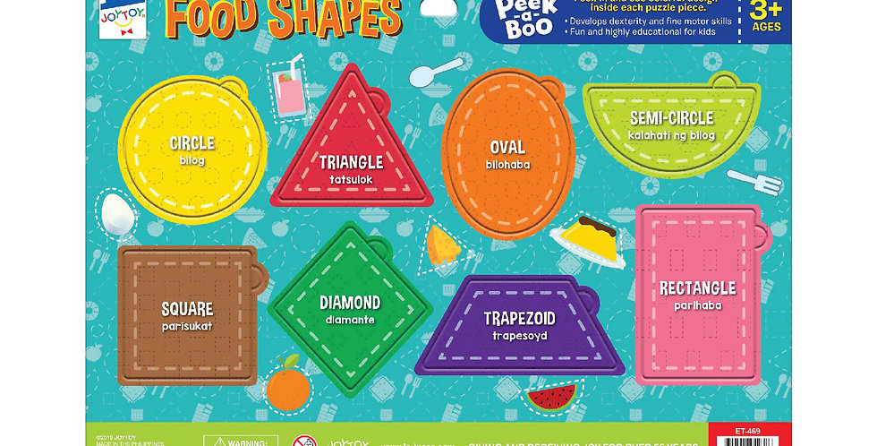 Food Shapes Peek-a-boo Puzzle