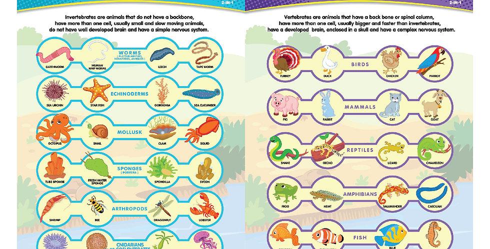 Vertebrates & Invertebrates 2-in-1 Poster