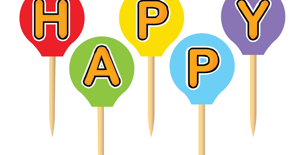 Happy Birthday Party Picks (18 pcs.)